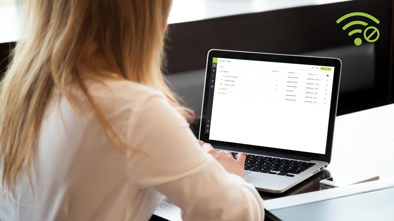 Tijdelijke onderbrekingen van het wifi-signaal vormen geen probleem voor assessmentQ